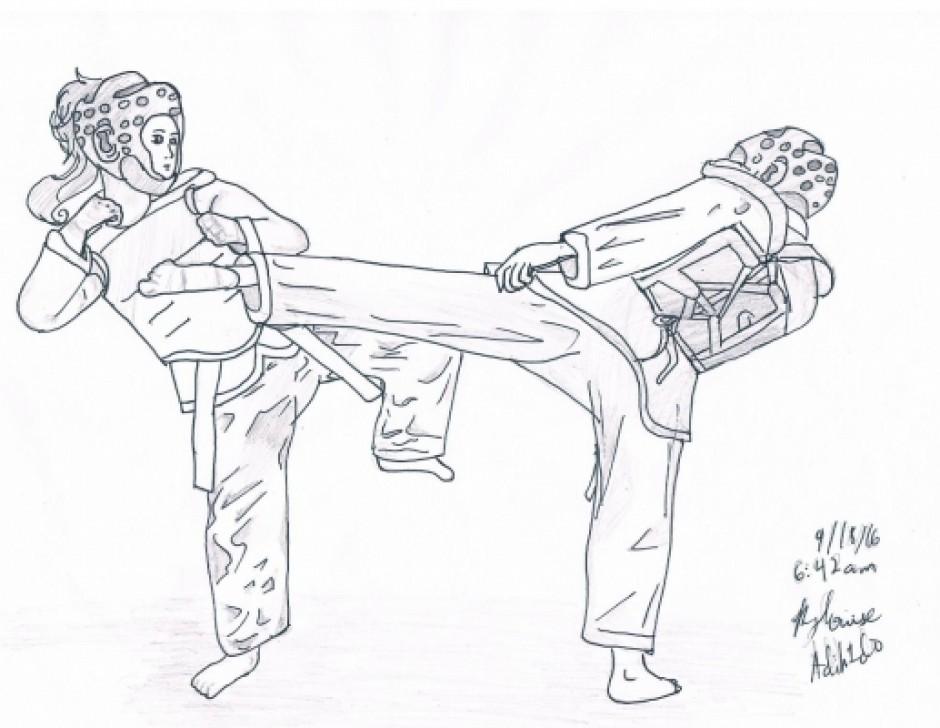 Taekwondo Drawings
