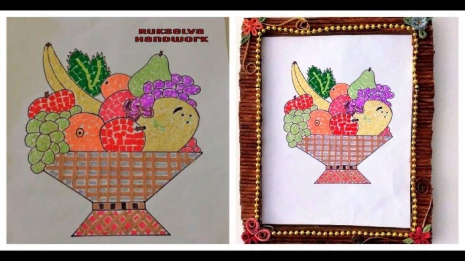 mosaic art fruit basket