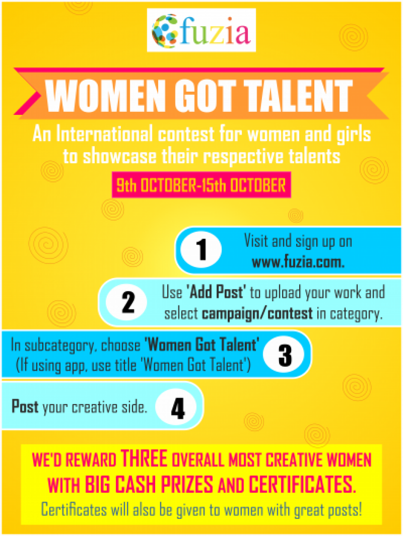 Women Got talent Instructions