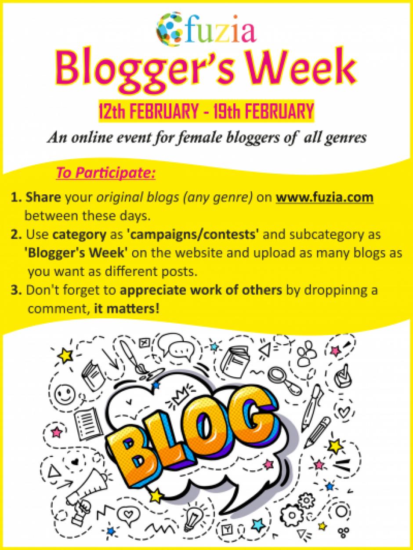Blogger\\\'s Week