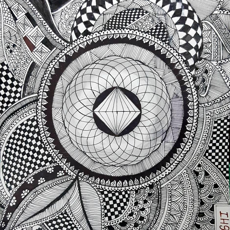 3D Art+Mandala Art